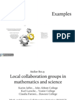 801-9 - Local Collaboration Groups in Mathematics and Science