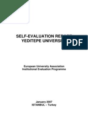 Yeditepe EUA Self-EvaluationReport   Graduate School