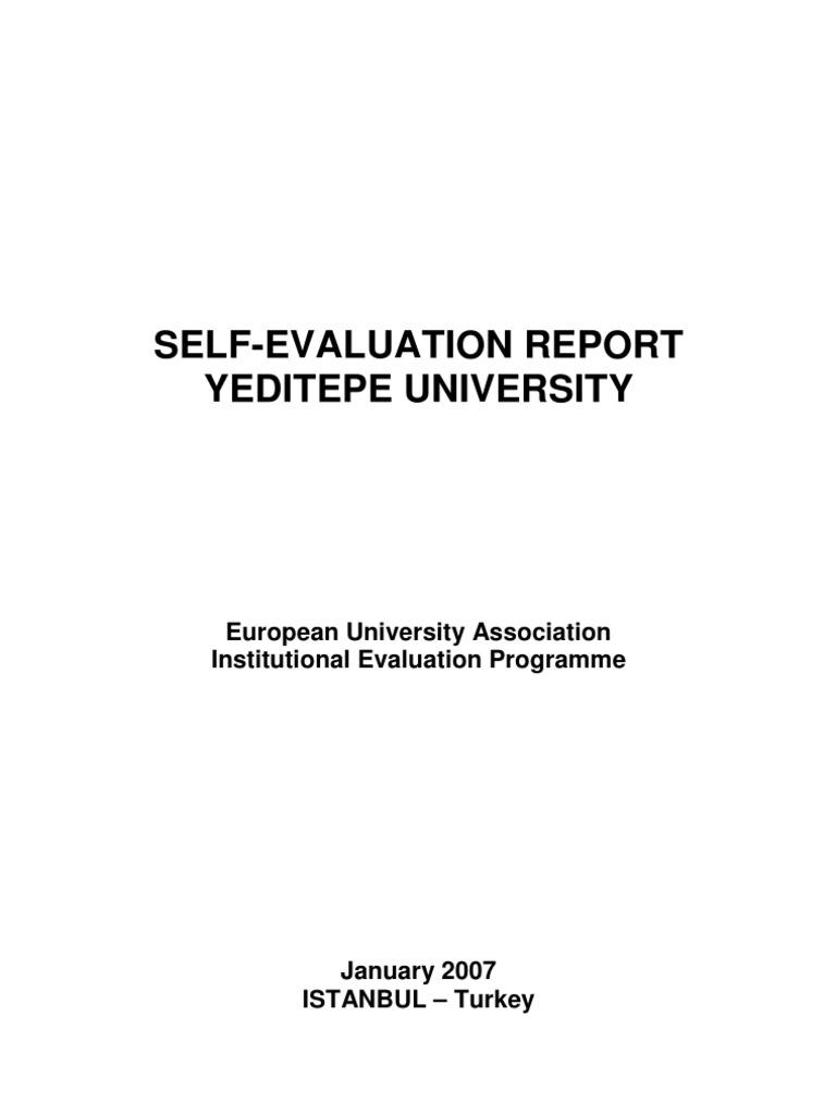 Yeditepe EUA Self-EvaluationReport | Graduate School | University