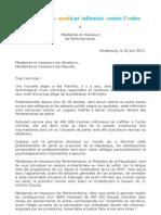 lettre aux parlementaires