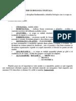 Biologie Vegetala - Curs 1