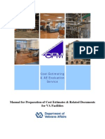 Manual for Preparation of Cost Estimates & Related Documents