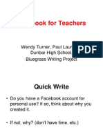 Using Facebook to Communicate With Students