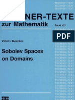 Sobolev Spaces on Domains
