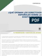 Qué opinan los directivos españoles de la digitalización