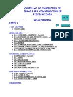 2)MENÚ DE CARTILLAS TÉCNICAS DE INSPECCIÓN DE CONSTRUCCIÓN   PARTE  1