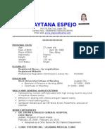 April Raytana Espejo