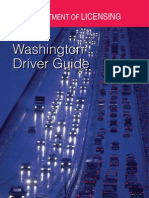 DEPARTMENT of LICENSING Washington Driver Guide Www.dol.Wa.gov Warning Signs