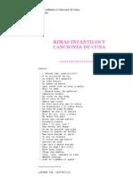 Rimas Infantiles y Canciones de Cuna   Anónimo