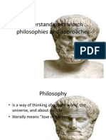 Understanding Research Philosophies and Approaches