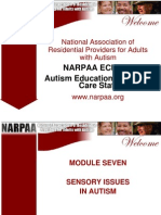 NARPAA E-Class Module 7 - Sensory Issues in Autism