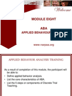 NARPAA E-Class Module 8 - ABA Applied Behavior Analysis