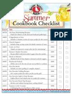 Summer Cookbook Checklist