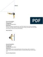 Flexibility (Shoulders Back)