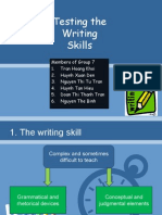 Group 7's Presentation on Testing Writing Skills