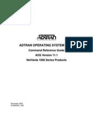 Adtran AOS Commands! | Command Line Interface | Data