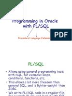 Programming in PLSQL
