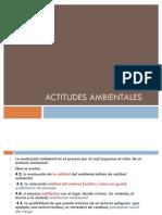 ACTITUDES AMBIENTALES