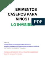 EXPERIMENTOS CASEROS PARA NIÑOS-LO INVISIBLE