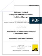 Family Life and Professional Work Conflict and Synergy What Contributes to the Im Balanced Division of Family Work in Young Dual-earner Couples