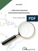 Análisis de la Coyuntura Socioeclesial lationamericana - Primer semestre 2010 con indice