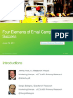 Four Elements of Email Campaign Success - Accelerate! Virtual Workshop - 062911