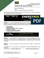 ENERGYBOX Sistema de respaldo de energía contra apagones en Venezuela