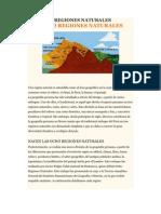 Las Ocho Regiones Naturales Del Peru