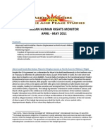 ACJPS Human Rights Monitor April-May