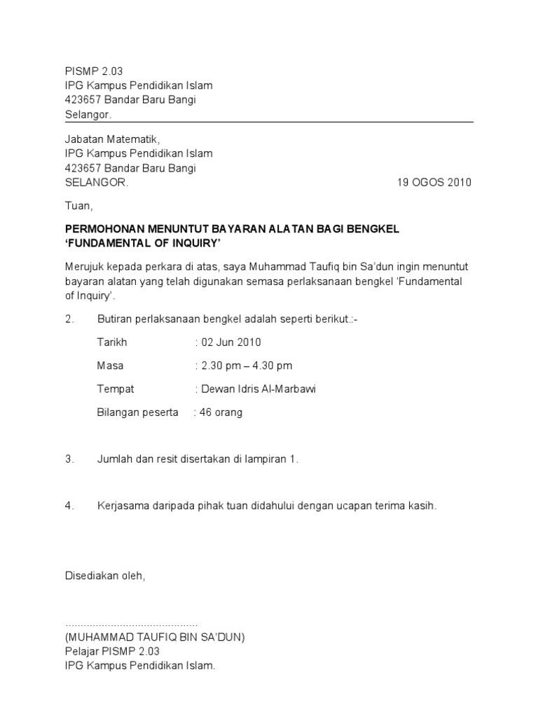 Surat tuntutan(bayaran)