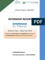 Internship Report EDM BCamareri