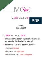 """Presentación del XVIII Congreso Comce-Puebla """"To BRIC or Not to BRIC"""" por el Dr. Juan Ernesto Pardinas"""