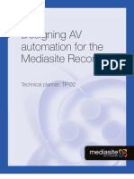 Designing AV Automation for the Mediasite Rich Media Recorder