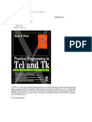 Practical Programming in Tcl and Tk | Scripting Language