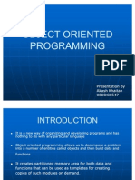 Object Oriented Programming(Slides)