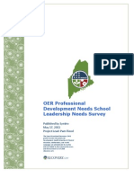 Maine OER Professional Development Survey Results Report 2011-05-17