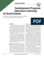 A Faculty Development Program for Nurse Educators Learning to Teach Online