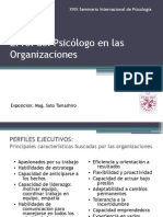 XVIII Seminario Internacional de Psicología - Presentación de la Mag. María del Pilar Sato Tamashiro