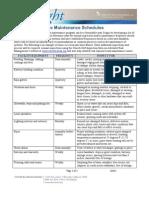 Church Preventive Maintenance Schedules
