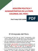 ORGANIZACIÓN POLITICA-COLONIAL