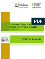 Structural Balance of Shoulders