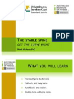 The stable spine – get the curve right