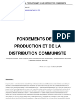 Jan Appel - Fondements de La Production Et de La Distribution Communiste
