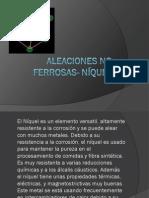 Aleaciones no ferrosas- níquel