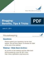 Blogging Benefits, Tips, and Tricks