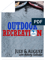 Outdoor Recreation July/August Activity Calendar