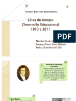 Línea de tiempo de 1810- 2011