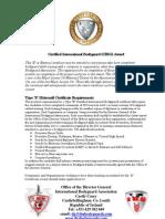 Certified International Bodyguard External)