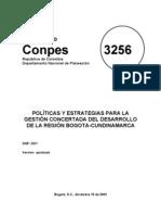 Conpes 3256 Bogota Region