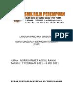 Laporan Program Orientasi Yang Betul2